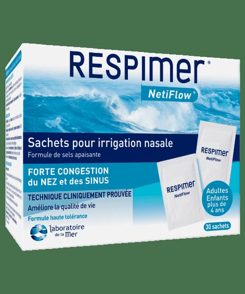 RESPIMER® NetiFlow® Sachets de sels minéraux pour irrigation nasale
